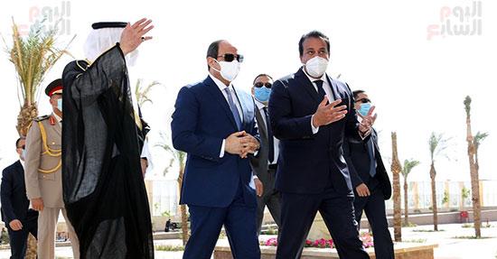 الرئيس السيسي يتفقد جامعة الملك سلمان (13)