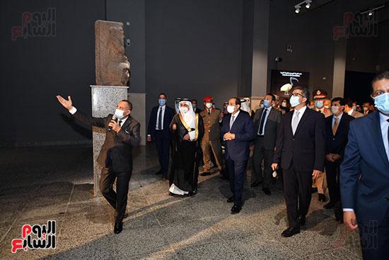 الرئيس السيسي يتفقد جامعة الملك سلمان (10)