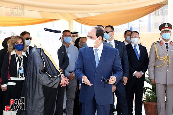 الرئيس السيسي يتفقد جامعة الملك سلمان (25)