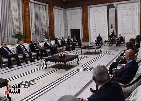 رئيس جمهورية العراق يستقبل رئيس الوزراء (2)