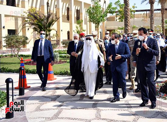الرئيس السيسي يتفقد جامعة الملك سلمان (19)