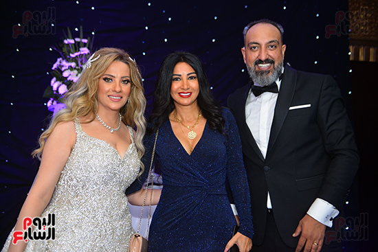جانب من حضور حفل زفاف عماد صفوت (2)