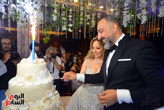 تورتة العريس عماد صفوت ودينا لويس