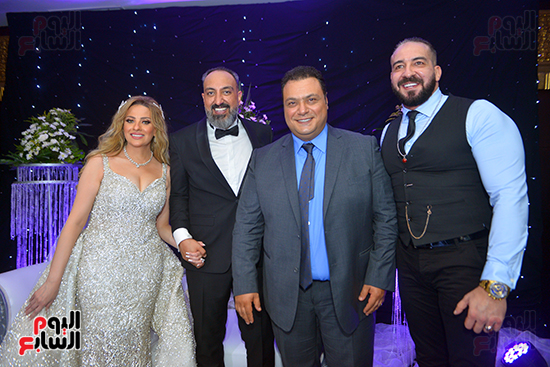 الفنان مراد مكرم فى حفل زفاف الزميل عماد صفوت