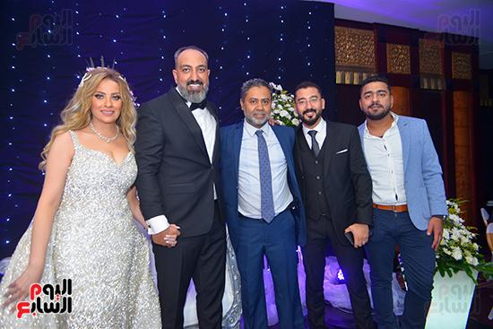 على حسني ومحمد خطاب ومحمد رشاد فى فى حفل زفاف عماد صفوت