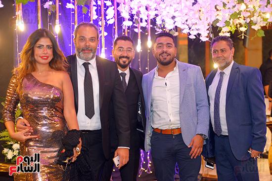 جانب من حضور حفل زفاف عماد صفوت