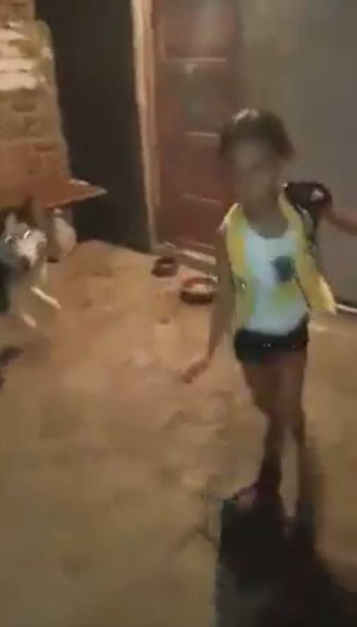 ترويع طفلة بالكلب