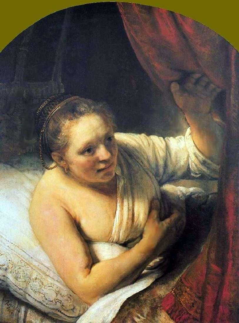 امرأة فى السرير