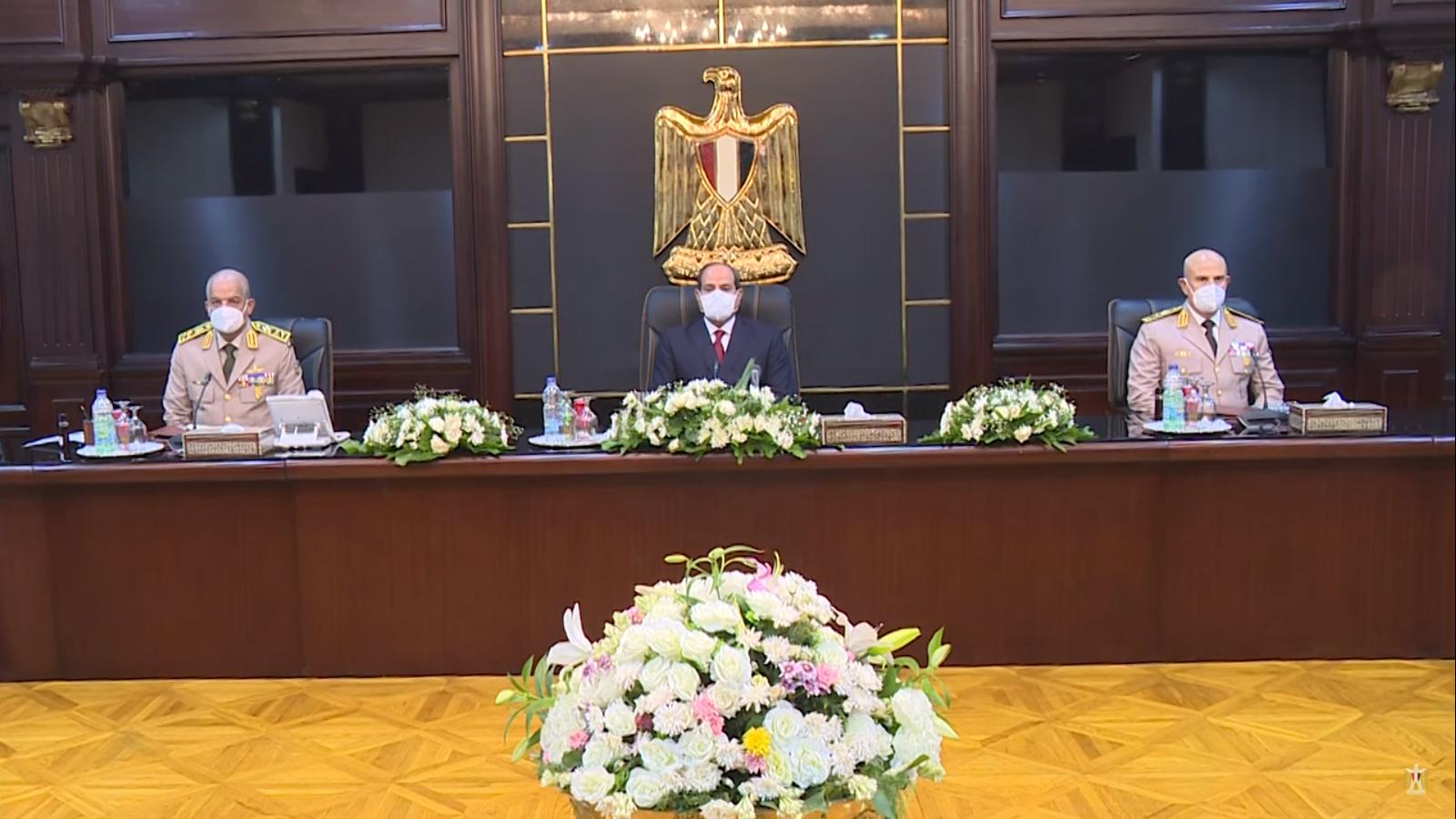 السيسى يترأس اجتماع المجلس الأعلى للقوات المسلحة لمناقشة مكافحة الإرهاب (2)