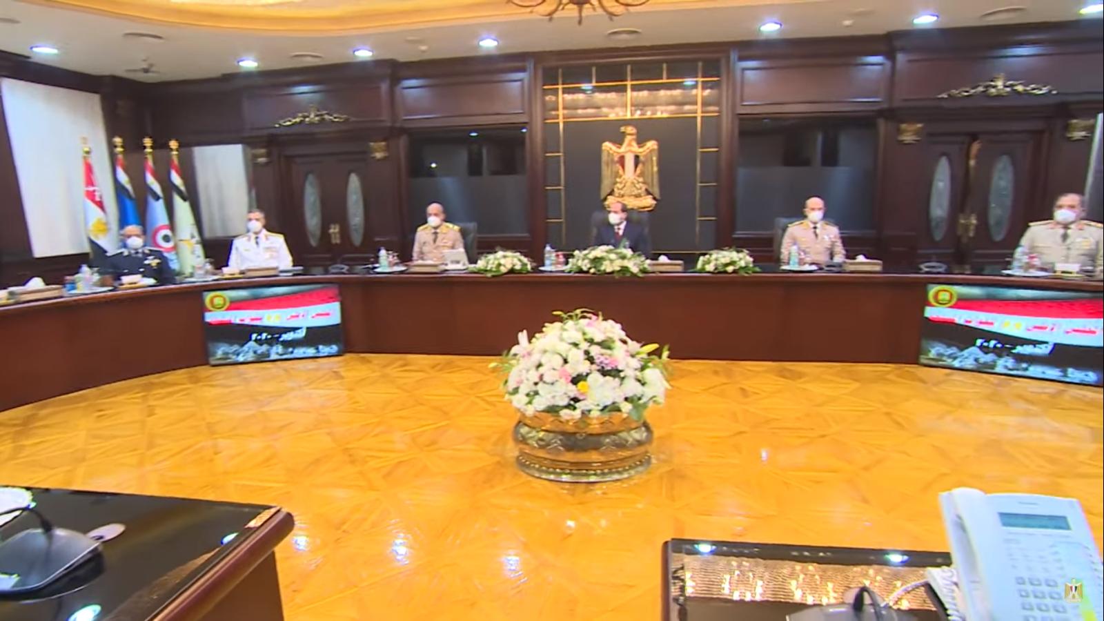 السيسى يترأس اجتماع المجلس الأعلى للقوات المسلحة لمناقشة مكافحة الإرهاب (3)