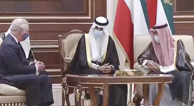 الأمير تشارلز وأمير الكويت