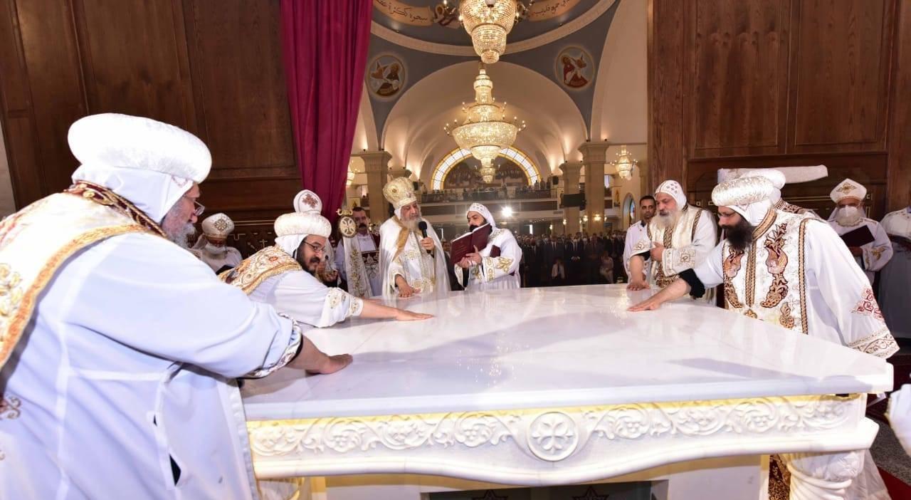 تدشين كنيسة العذراء ببشاير الخير (6)