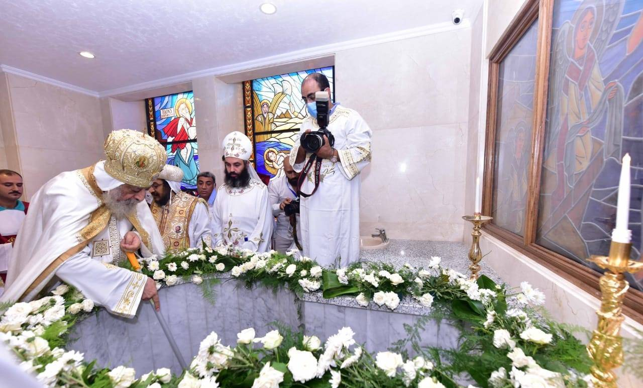 تدشين كنيسة العذراء ببشاير الخير (4)