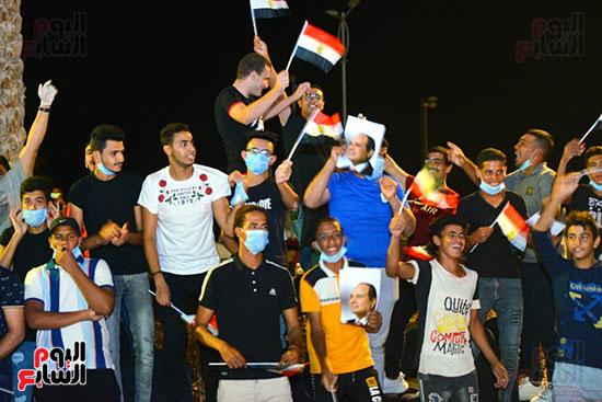 احتفال المصريين بنصر اكتوبر