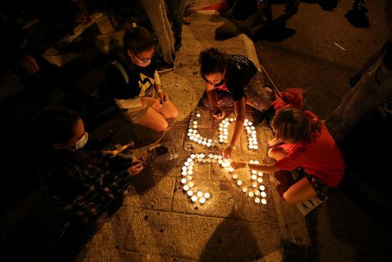 احتجاجات ضد فساد نتنياهو واجراءات مواجهة كورونا (2)