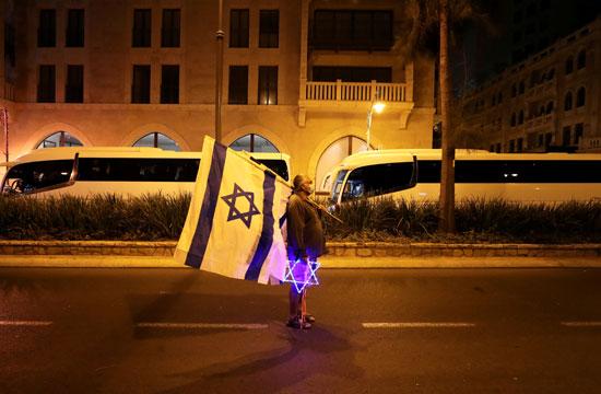 احتجاجات ضد فساد نتنياهو واجراءات مواجهة كورونا (3)