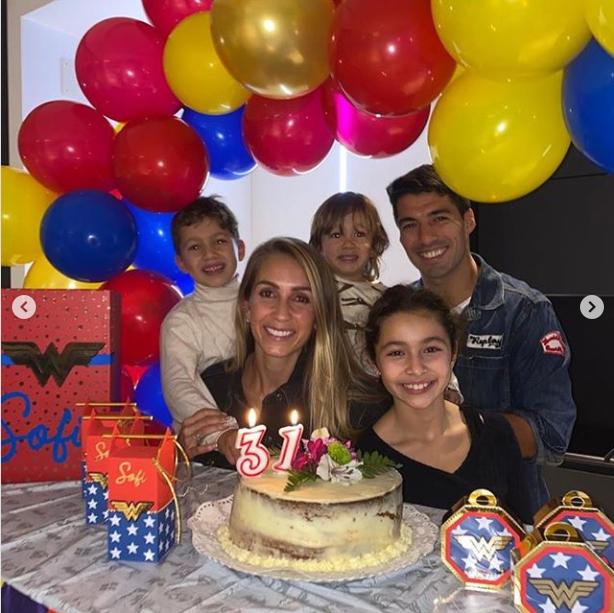سواريز وعائلته