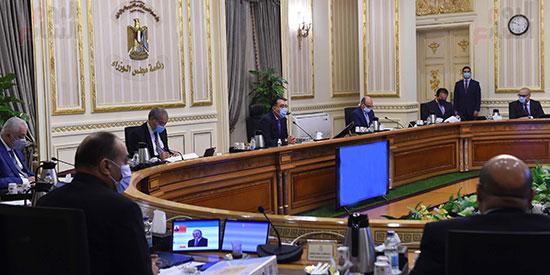 اجتماع مجلس الوزراء، عبر تقنية الفيديو كونفرانس  (9)