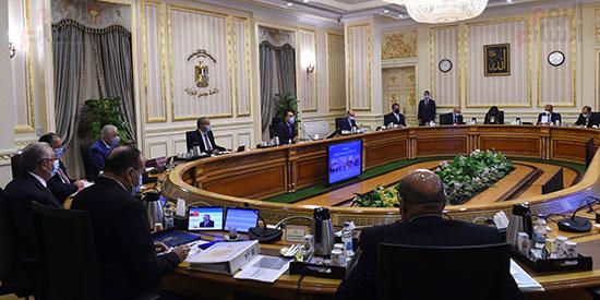 اجتماع مجلس الوزراء، عبر تقنية الفيديو كونفرانس  (1)