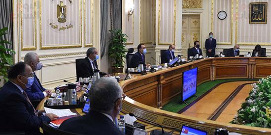اجتماع مجلس الوزراء، عبر تقنية الفيديو كونفرانس  (3)