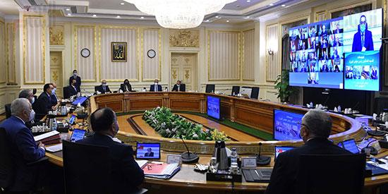 اجتماع مجلس الوزراء، عبر تقنية الفيديو كونفرانس  (6)