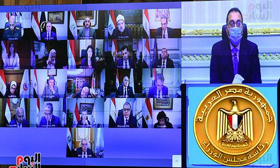 اجتماع مجلس الوزراء، عبر تقنية الفيديو كونفرانس  (7)