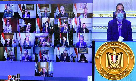 اجتماع مجلس الوزراء، عبر تقنية الفيديو كونفرانس  (8)