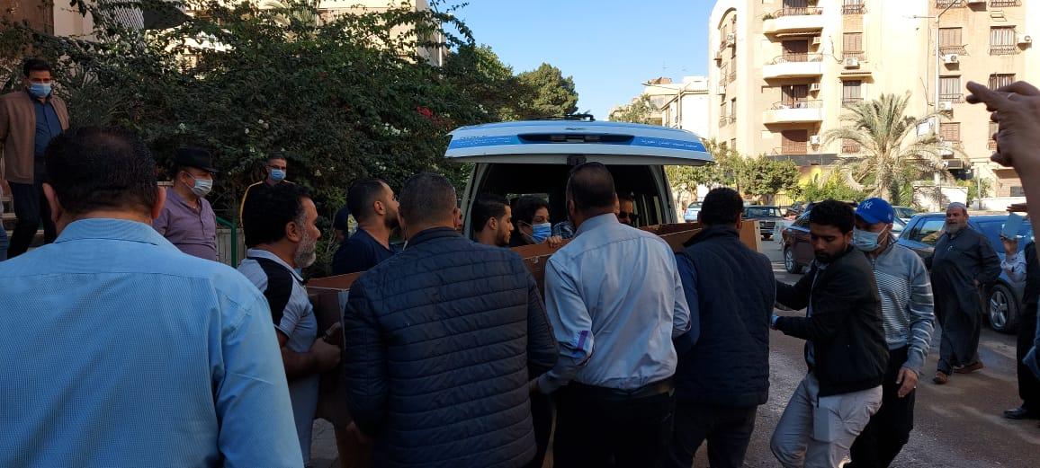 The funeral of Saeed Al-Kafrawy