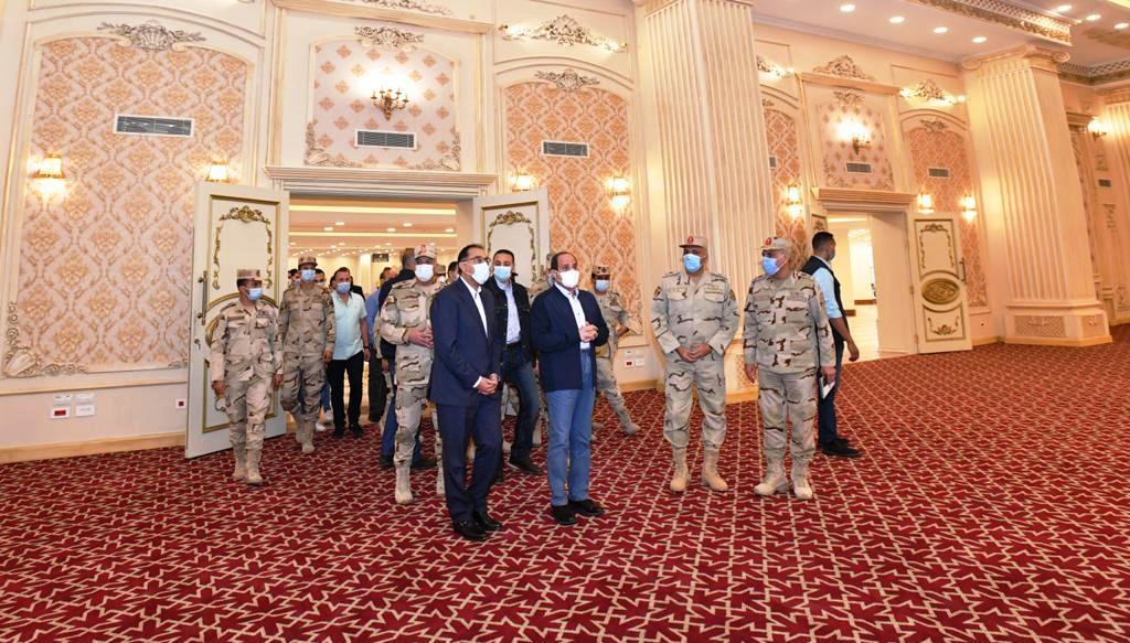 جانب من تفقد السيسى لمقر قيادة الدولة الاستراتيجى بالعاصمة الإدارية