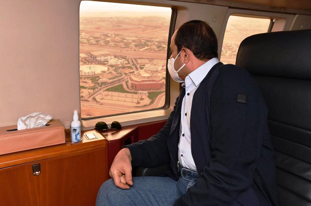 الرئيس السيسي يتفقد العاصمة الإدارية