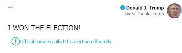 تغريدة ترامب عن الفوز