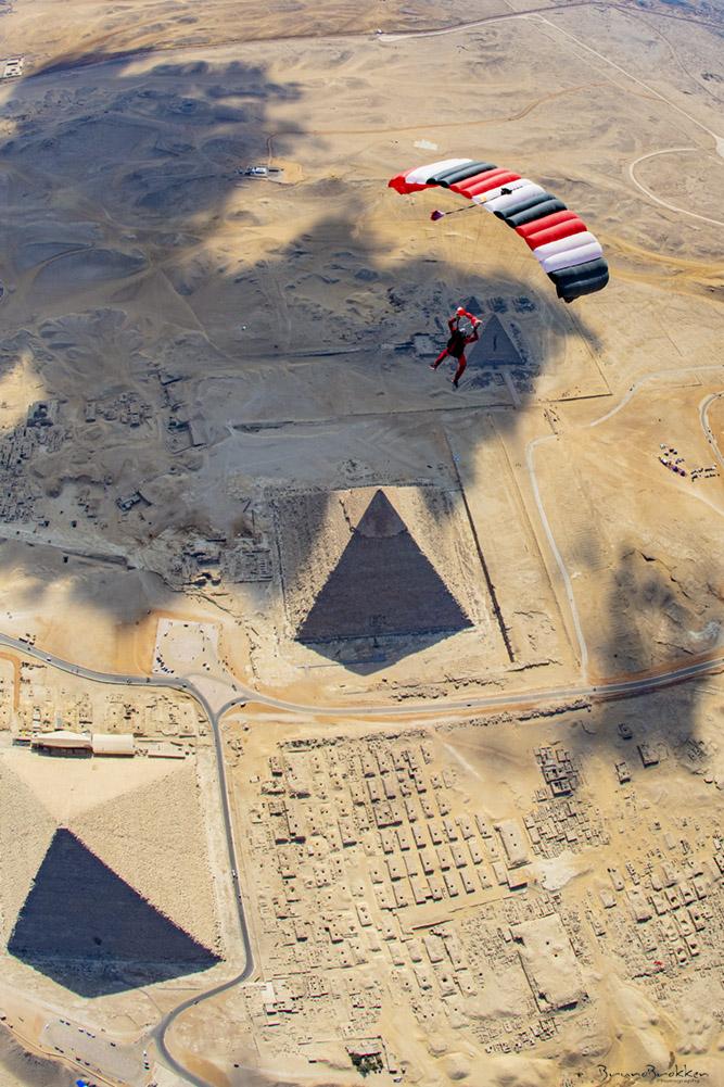 علم مصر من السماء