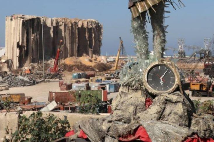 توقيت انفجار مرفأ بيروت