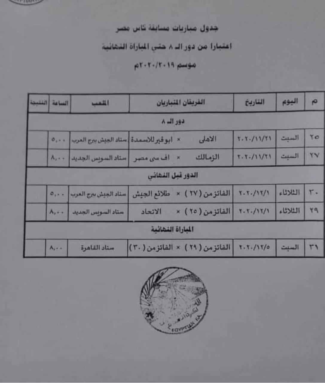 كاس مصر