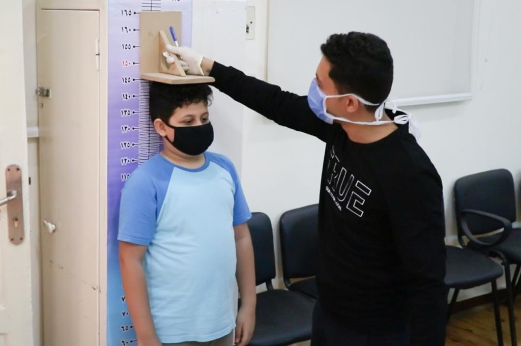قياس الطول لأحد الطلاب