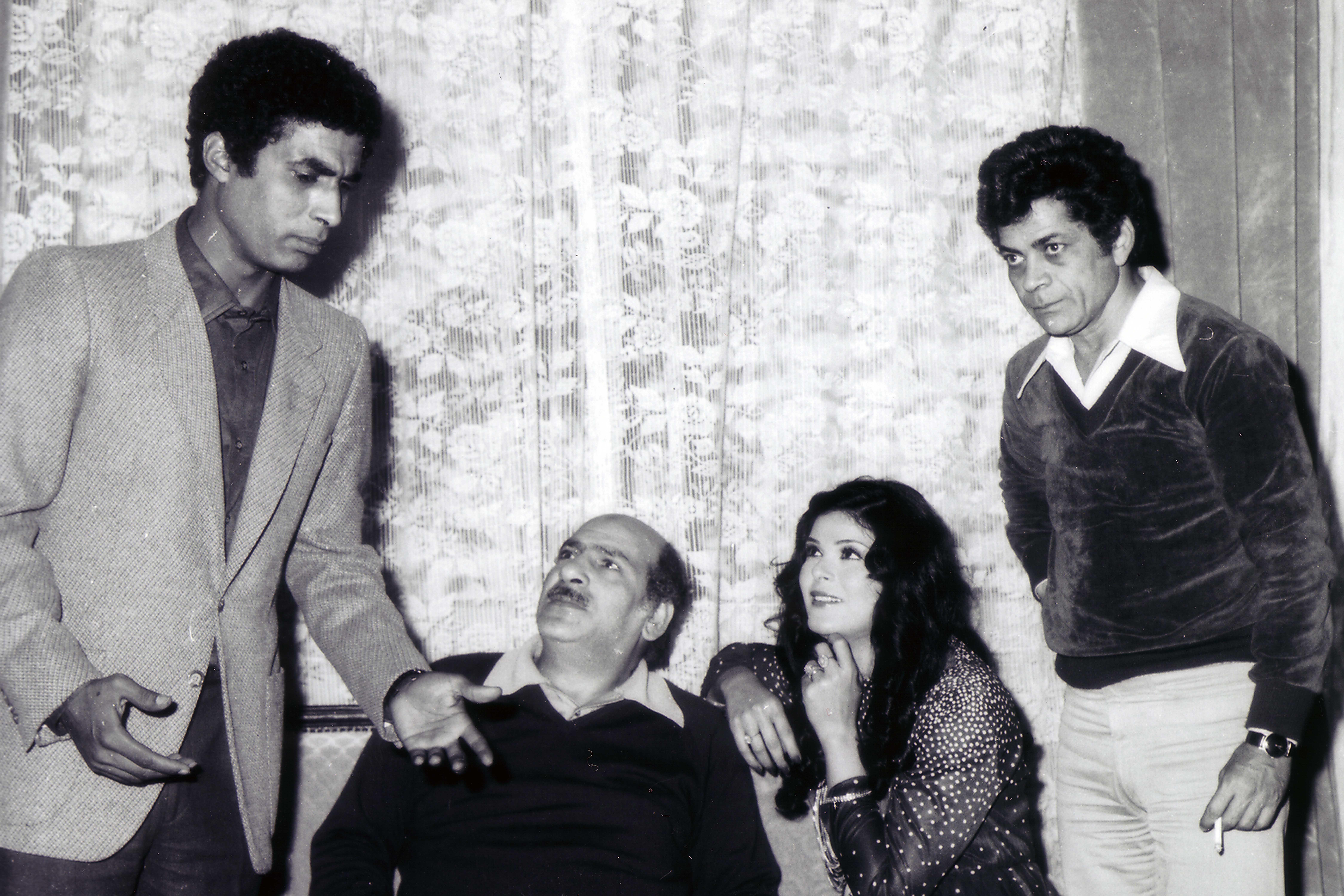 أحمد زكي مع حسن عابدين