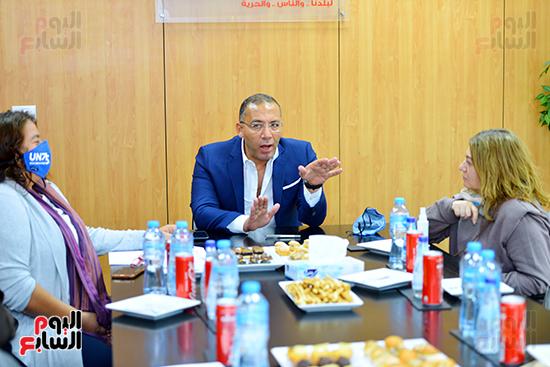 خالد صلاح علي هامش توقيع ميثاق التعاون مع الأمم المتحدة