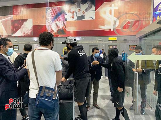 وصول مهمة المنتخب المصري (3).
