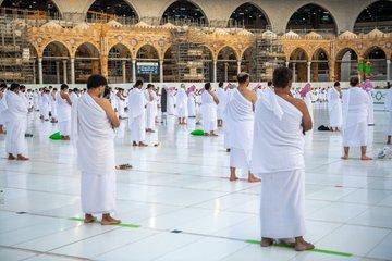تباعد المصلين فى المسجد الحرام