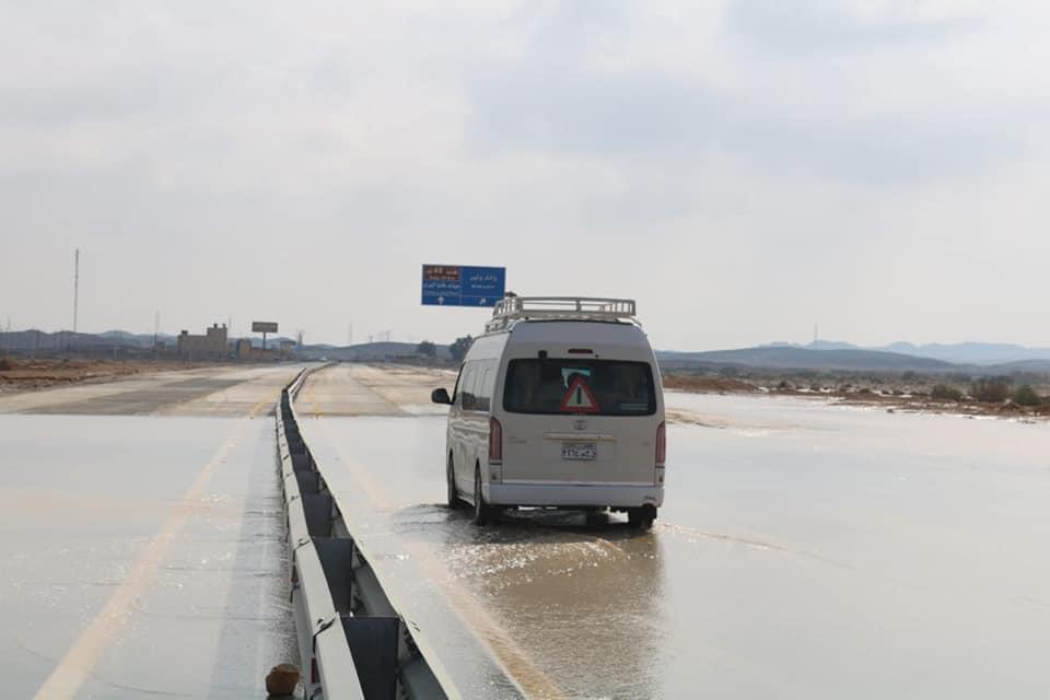 موجة الأمطار والسيول تروى وديان وسط سيناء (3)
