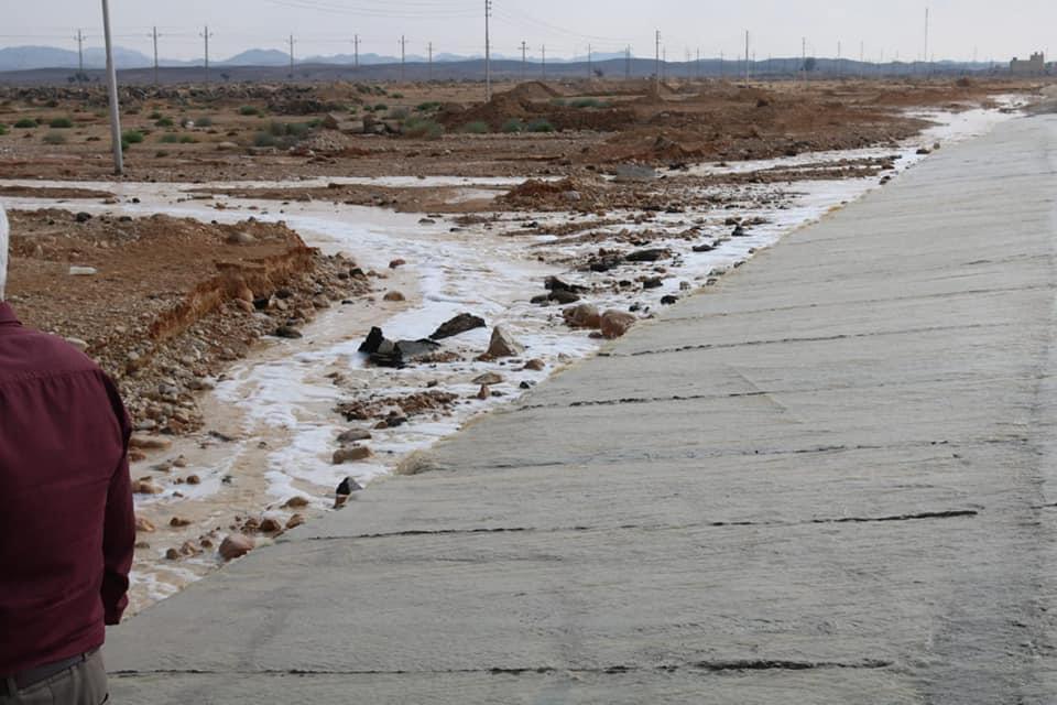 موجة الأمطار والسيول تروى وديان وسط سيناء (2)