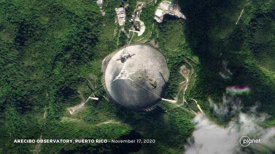 انقطاع كابل أكبر المراصد الفلكية بالعالم فى بورتوريكو (1)