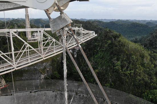انقطاع كابل أكبر المراصد الفلكية بالعالم فى بورتوريكو (2)