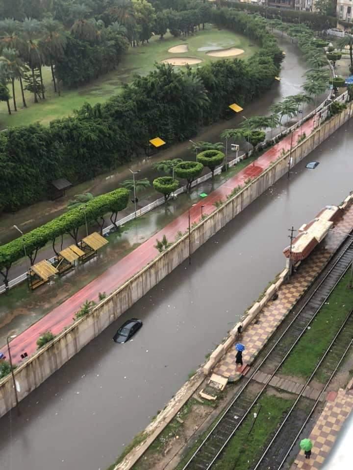 ارتفاع فى منسوب المياه وغرق بعض المناطق (2)