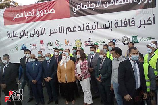انطلاق القافلة الأكبر لتقديم المساعدات بمحافظات مصر (14)