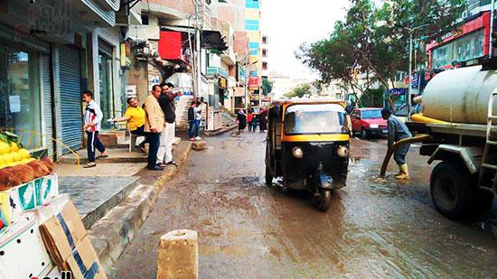 شفط مياه الأمطار من الشوارع (1)