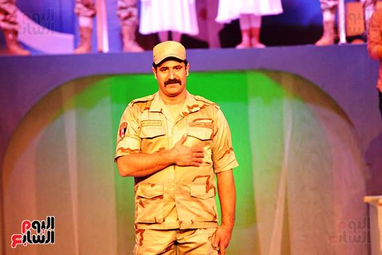 الفنان محمود حجازى فى العرض