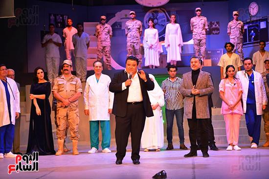 خالد جلال يوجه كلمة للحضور عقب إنتهاء العرض