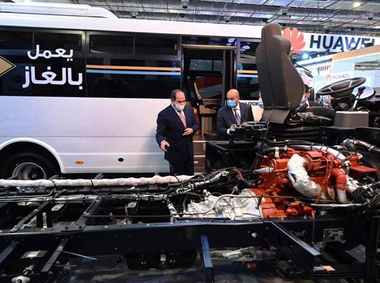 الرئيس السيسى يفتتح معرض ومؤتمر النقل الذكي للشرق الأوسط وأفريقيا (1)