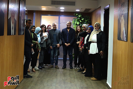 خالد صلاح ووفد مبادرة ألف كاتب